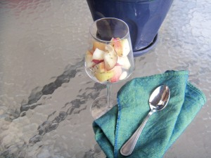 Nutty Peach Appetizer