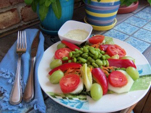 Edamame Salad with Bold Honey Mustard Dressing