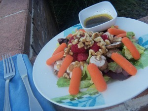 Nuts & Berries Salad with Sweet Basil Vinaigrette-8.31.2011