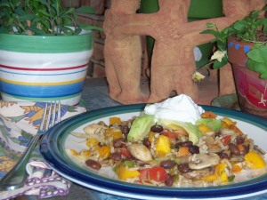 Nearly Naked Southwestern Vegetarian Stir-Fry