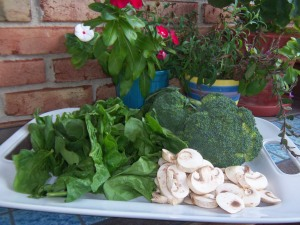 Raw materials for the Steak and Spinach Salad