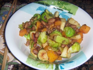 B.S. Stir-fry with Pinto Beans in Peanut Sauce