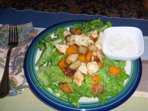 Tastes of Autumn Stir-fried Chicken Salad