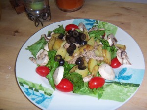 Turkey Potato Salad with Honey Citrus Balsamic Dressing