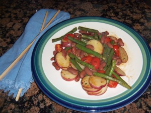 Mediterranean-inspired Bean and Potato Stir-fry