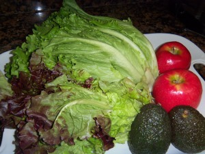 Raw materials for this week's salad