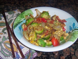 Brussel Sprouts Stir-fry in Spanish Paprika spice medley